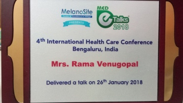 Rama madam - E talk 2018 conference Shield